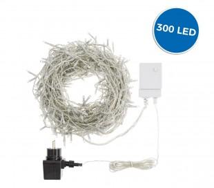 561076A Luces de navidad cortina 300LED LUZ FRÍA  3 x 1 mt luces programables