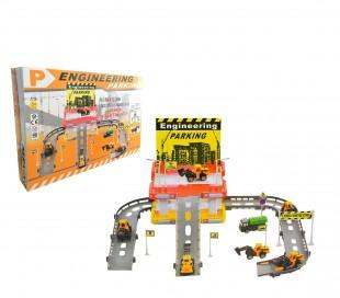 358603 Playset APARCAMIENTO CONSTRUCCIÓN CIGIOKI con vehículos y señales 42x40