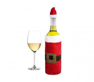 569197 Cubre botellas de NAVIDAD vestido y gorrito de Papá noel