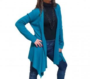 Cárdigan mujer manga larga tejido ligero gran ajuste al cuerpo