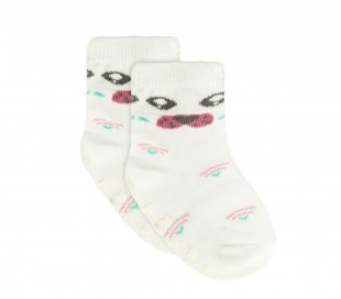 N508 Pack 6 calcetines para bebé mod. MOVE GIRL antideslizante talla 0/24 meses