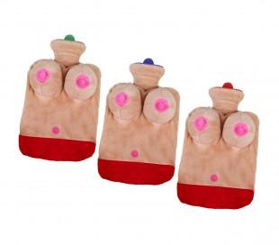 748997 Bolsa de agua caliente sexy con senos 3D de peluche despedida de solteros