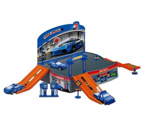 121836 Playset juego PARCHEGGIO FORZE SPECIALI con helicóptero y vehículos