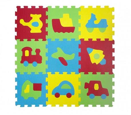 529054 alfombra puzzle eva 10 pz del juego modular vehÍculos 32 x 32 x