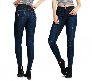 81113 Jeans de cintura alta para mujeres mod. Talla ajustada ANNALAURA - XS a XL