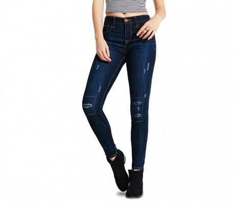 ANNALAURA talla ajustada 81113 Jeans de cintura alta para mujeres mod XS a XL