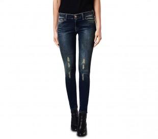 81128 Jeans de cintura alta para mujeres mod. KENDRA slim fit de XS a XL