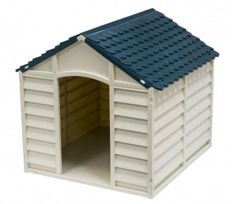 4568 caseta de resina en forma de casa para perros - Caseta perro resina ...
