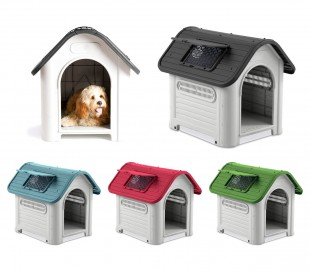 4567 Caseta en forma de casa para perro PROLABZOO con toma de aire 72x75X85CM