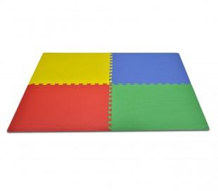 393062 Alfombra puzzle EVA 4 piezas MULTICOLOR juego modular 60x60x1 cm