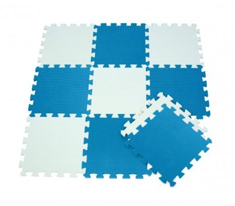 898cbb5b6ec 410387 Alfombra puzzle goma EVA 10 pz juego modular 29.5 x 29.5 cm BICOLORE