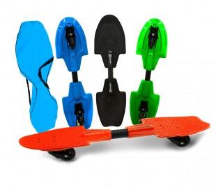 515579 Snake skate fluo wave cojinetes ABEC 7 con ruedas LED luminosas