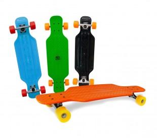 515654 Skateboard antideslizante en ABS COLORI FLUO cojínetes ABEC 7 80 cm