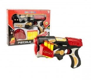 394915 Pistola lanza dardos CIGIOKI LASER con 6 depositos y objetivo