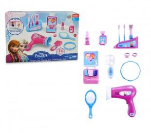 087138 Playset accesorios de belleza DISNEY FROZEN con 14 accesorios