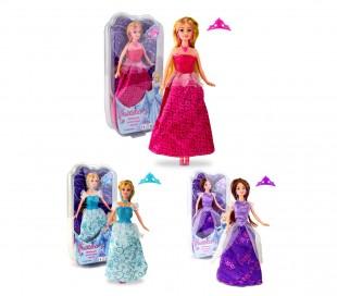 223239 Muñeca princesa de moda con corona y accesorios varios colores