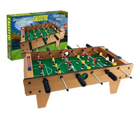 634454 Futbolín de mesa CALCETTO TEOREMA de madera y 6 líneas 69 x 37 cm