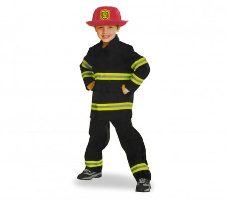 360190 Disfraz de carnaval infantil VIGILE DEL FUOCO con casco incluido