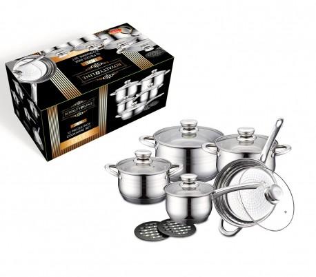 RL-1232 Juego de utensilios de cocina de acero inoxidable ROYALTY LINE 12 piezas