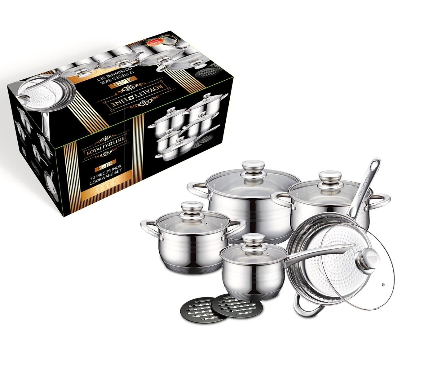 RL-1232 Juego de utensilios de cocina de acero inoxidable ROYALTY LINE