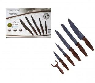 RL-WD5G Juego cuchillos 6 pz ROYALTY LINE recubrimiento de mármol antibacteriano