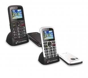 TM-C08BK Teléfono para ancianos TECHMADE botón sos y base de carga