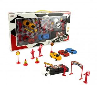 115270 Playset toy cars o go-kart push RACERS FORMULA con accesorios