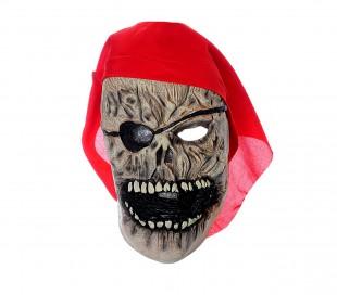 6fd7250c86d01 441621 Máscara para disfraces de carnaval Pirata Zombie con pañuelo rojo  incluid