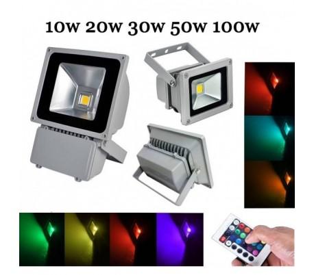 Foco LED de alta luminosidad luz RGB MULTICOLOR para exterior IP65 en varios WAT