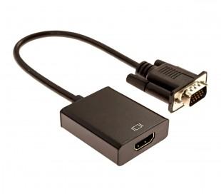 560929 Adaptador convertidor de video universal de VGA a HDMI Audio USB
