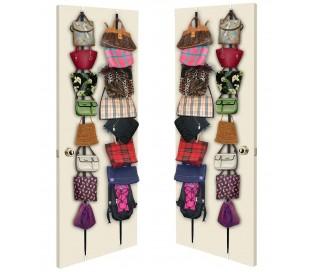 Oraganizador 16 ganchos par colgar bolsa bufandas sombreros suspensión del bolso