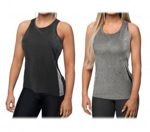 KZ-353 Camiseta sin mangas para mujer en tejido fitness transpirable dos colores