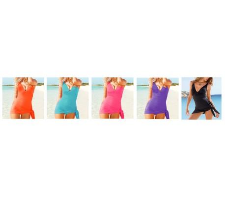 Vestido para mar de mujer modelo gabrielle vestido 3 en 1 con cuello en v