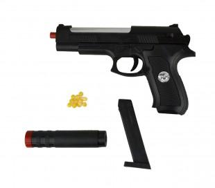 285589 Pistola de juguete Sport Gun con SILENCIADOR HY-730A 6 mm con balines