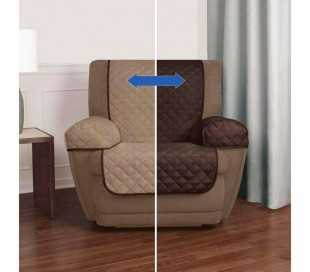 Cubierta de doble cara para sofá de 1 plaza impermeable 70 x 170 cm