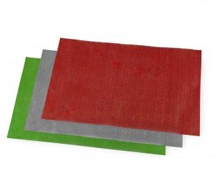 Juego de 3 tapetes multiuso con textura entrecruzada antimoho de 50x30 cm