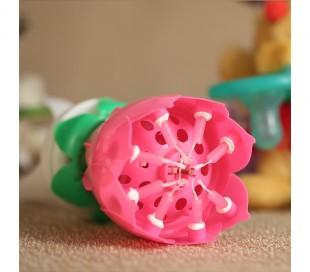 354544 Vela en forma de flor  musical con efectos de sonido y rotación