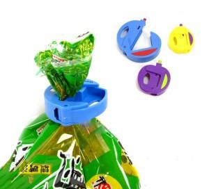 230855 Set 3 clips conservar la frescura aliemntos WelkHome para sellar bolsas