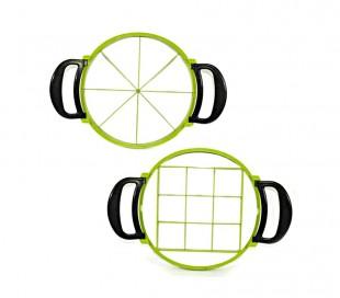 227688 Cortador de porciones a presión 32 cm WELKHOME forma redonda y cuadrada