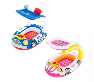 34103 Canoa inflable para niños BESTWAY con cubierta y volante 98 x 66 cm