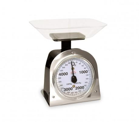 PWC1021 Balanza de cocina analógica DCG escala hasta 5 kg bandeja de plástico