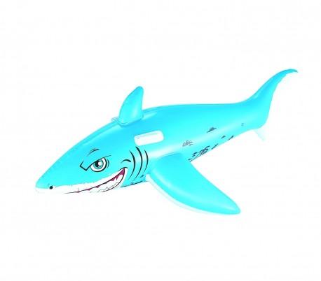 41032 Hinchable en forma de tiburón cabalgable BESTWAY para niños 183 x 102 cm