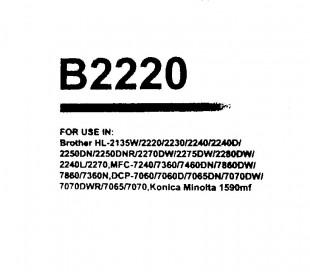 Toner compatible TN2220 Brother HL 2240-2270DW-2250-7360-7460-7860 2600 PG