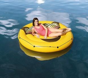43139 Isla inflable diámetro 188 cm BESTWAY sonrisa y gafas de sol