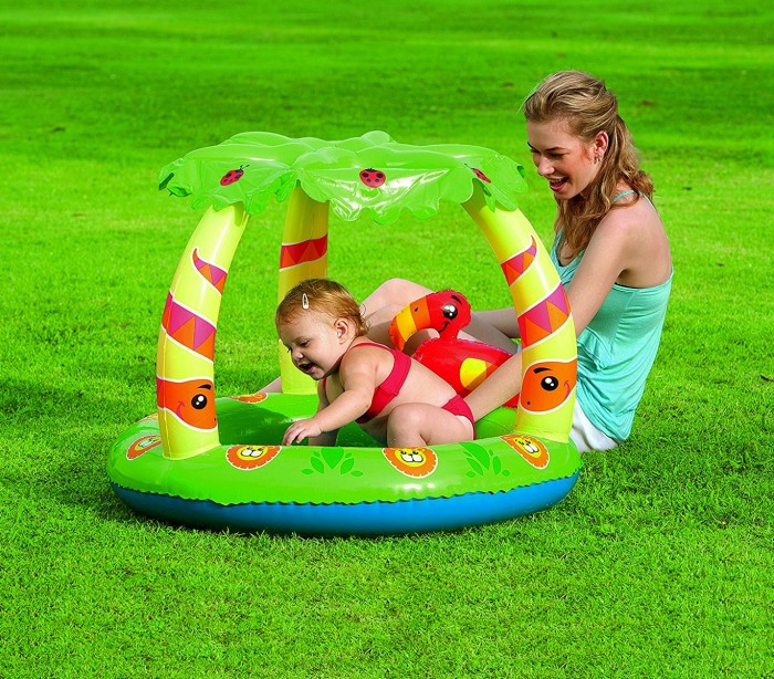 52179 piscina de jungla bestway con fondo inflable y for Piscina inflable bestway