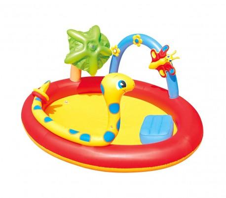 53026 Piscina inflable centro de juegos de serpientes y aerosoles 193x150x89cm