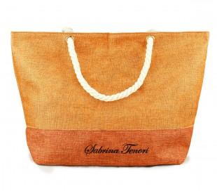 423110 Bolso de playa Sabrina Tenori MIRANDY fantasía de dos tonos con asas