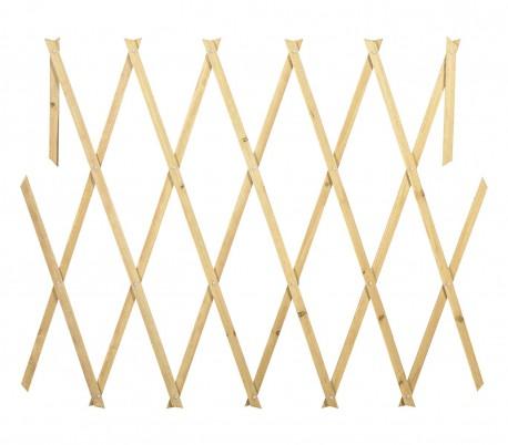 434013 Rejilla de madera extensible Welkhome 150x30 cm para las plantas