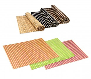 137697 Mantel de bambú decorativo de colores para mesa 30x40 cm