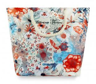 423059 Bolso para la playa Sabrina Tenori estampado de flores JUTA asa de cuerda